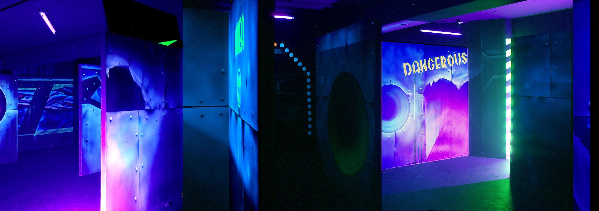 Lasertag blacklight