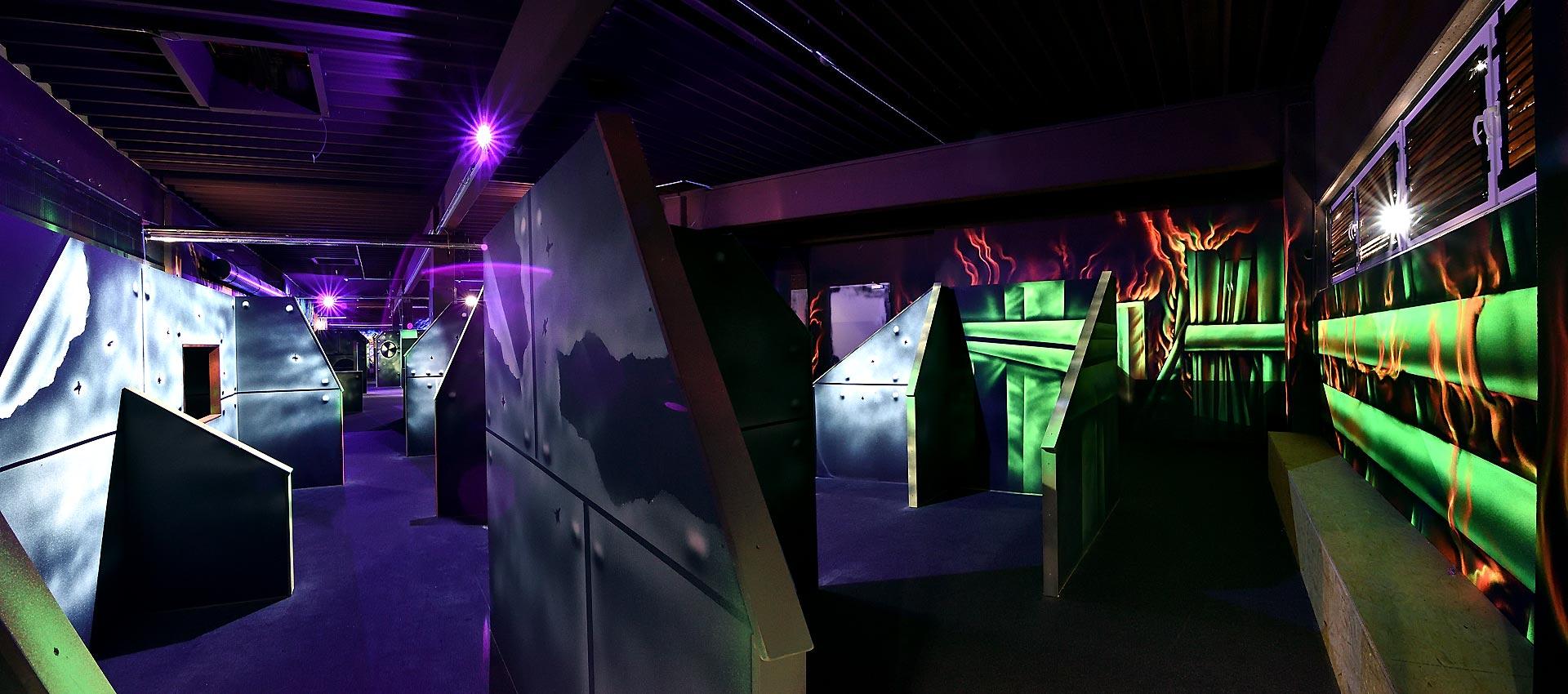 Lasertag, Schwarzlicht | Kunstarena.com