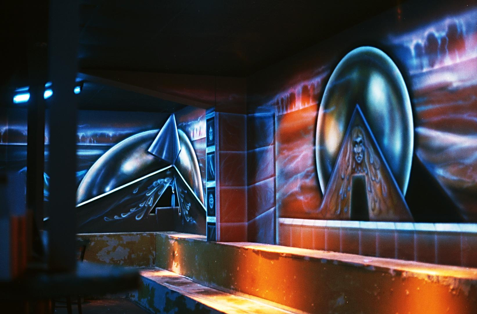 Schwarzlicht Wandbilder